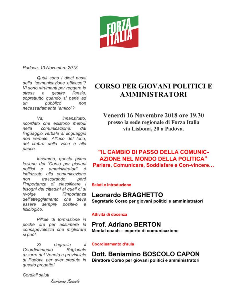 Corso di Formazione Politica Padova